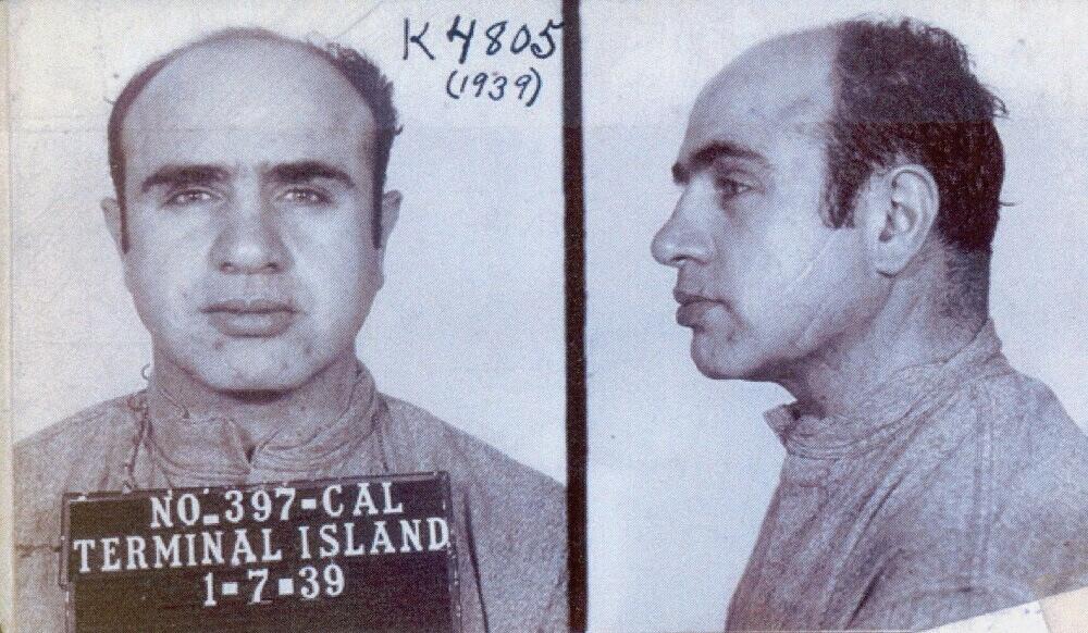 Аль Капоне в тюрьме на Терминал Айланд в Калифорнии, 7 января 1939
