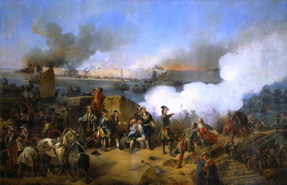 Александр Евстафиевич Коцебу «Штурм крепости Нотебург 1702 года»