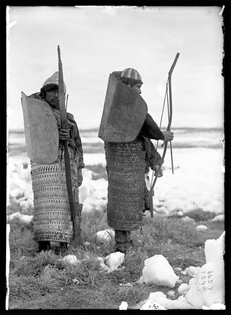 Два коряка в броне и с оружием, конец XIX века