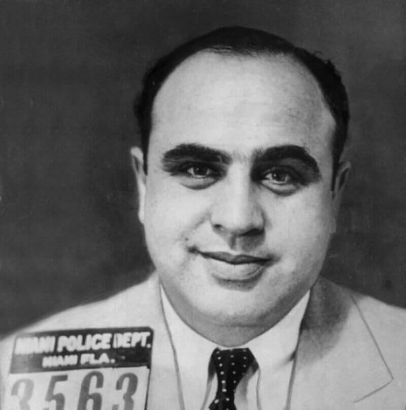 Фотография Капоне в Майами, штат Флорида, 1930 год / Полицейское управление Майами