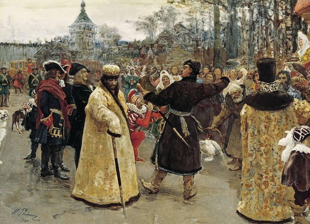 Илья Репин «Два царя»