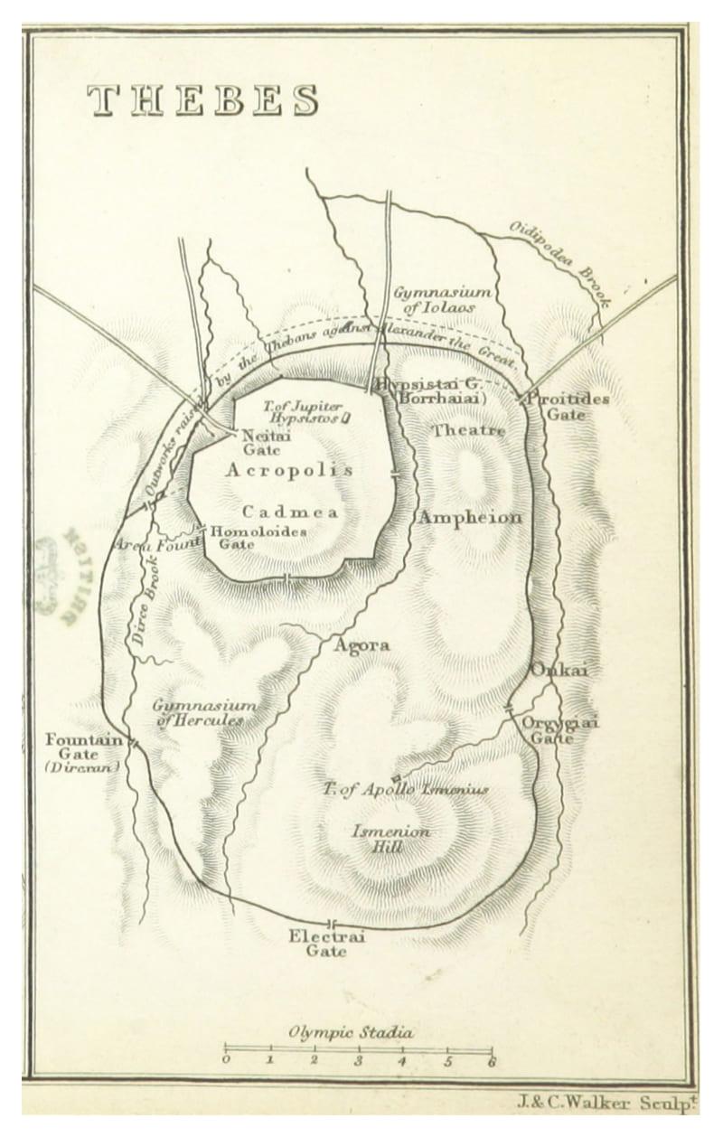 Карта Фив