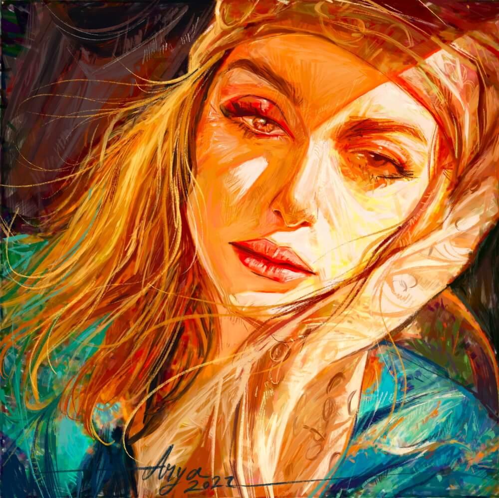Персидская женщина (не является портретом Барсины) / © Arya (Morteza) Rakhtala / aryaart.artstation.com