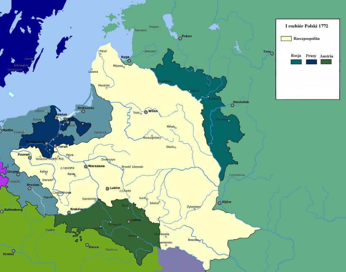 Первый раздел Польши / © Mathiasrex / ru.wikipedia.org