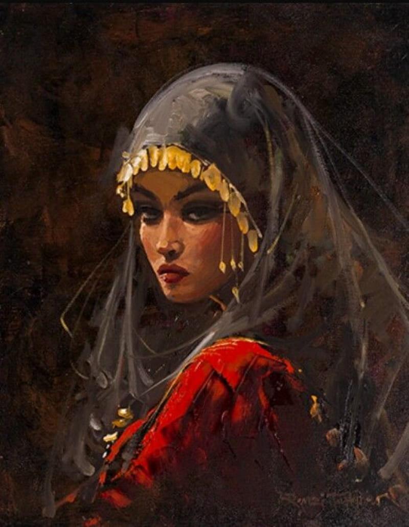 Ремзи Таскариан «Девушка с востока» (не является портретом Гюльбахар)