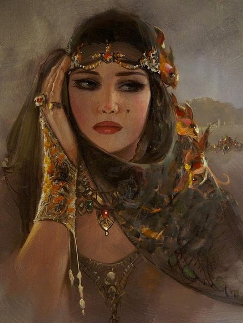 Ремзи Таскариан «Восточная красавица» (не является портретом Гюльбахар)