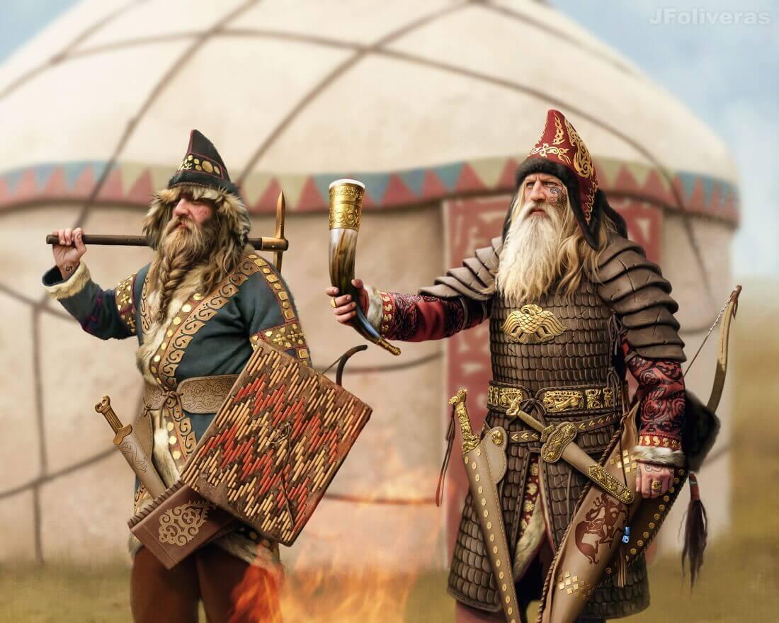 Сатрак, скифский вождь (или царь) в битве при Яксарте / © Joan Francesc Oliveras Pallerols / jfoliveras.artstation.com