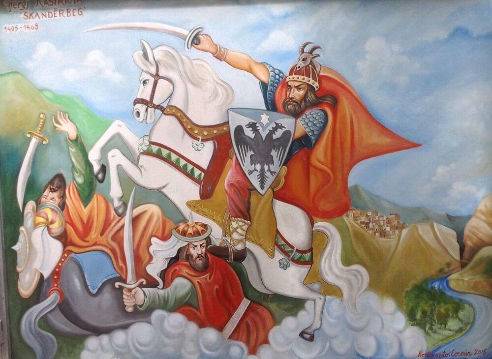 Скандербег в битве с османами