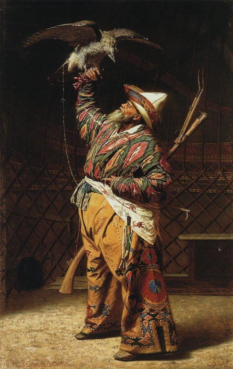 В. В. Верещагин «Богатый киргизский охотник с соколом»