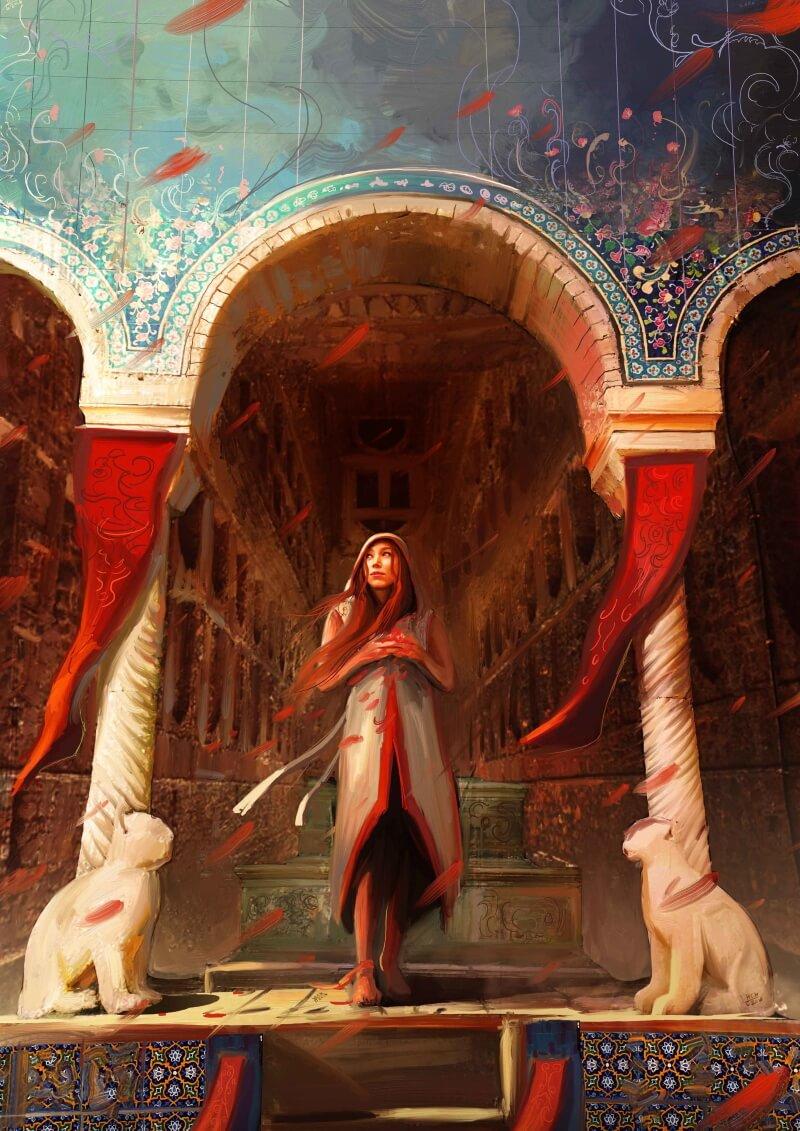 Женщина из Персии (не является портретом Барсины) / © hassan chenari / hasan_chenari.artstation.com
