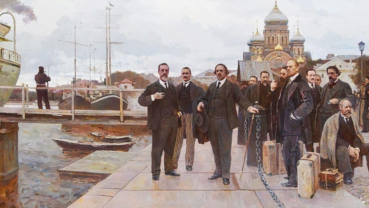 «Философский пароход» художник Дмитрий Пантюхин