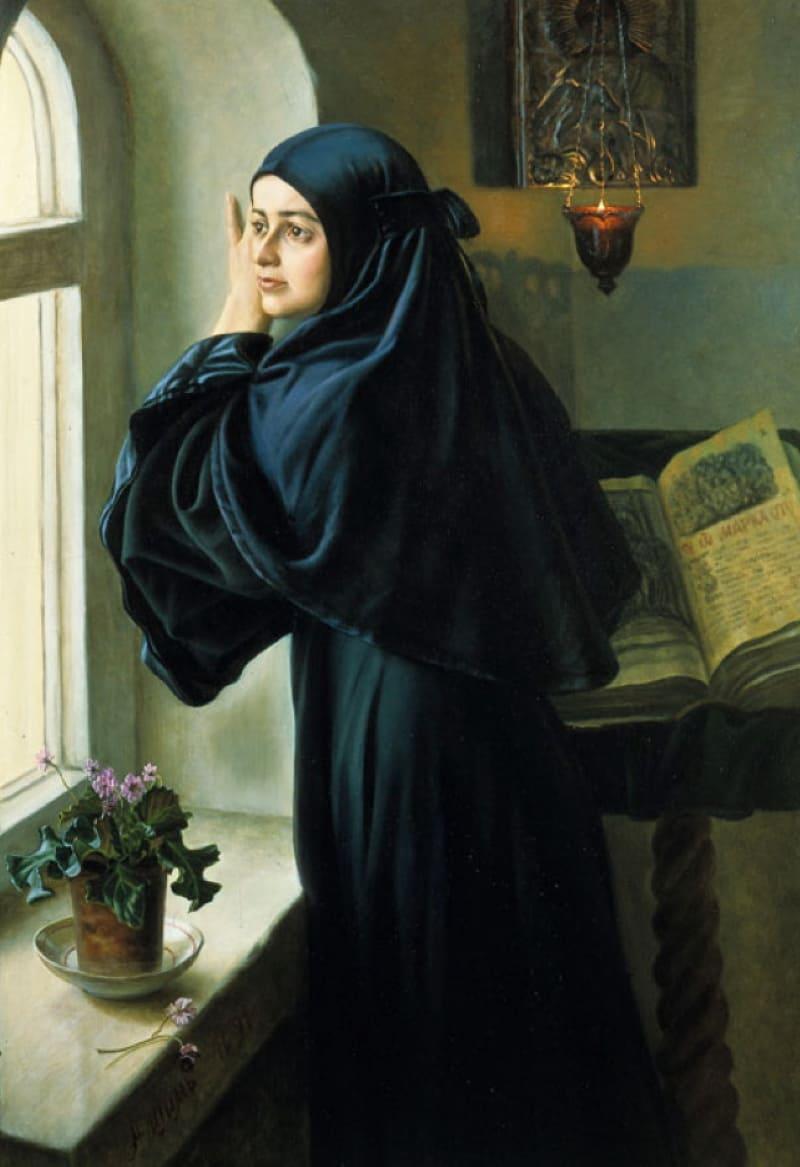 А.М. Шилов «За монастырской стеной», не является портретом Варвары Арсеньевой