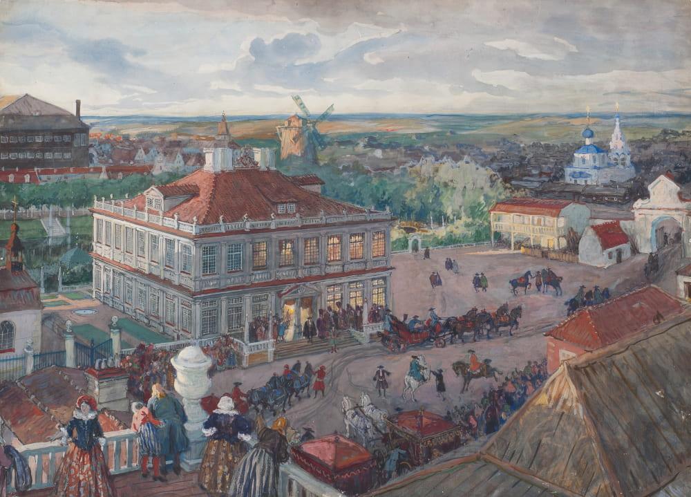 Александр Бенуа «В немецкой слободе»