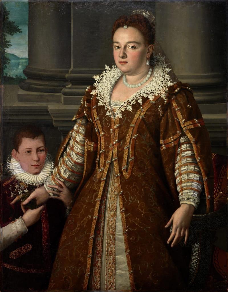 Алессандро Аллори «Великая герцогиня Бьянка Капелло де Медичи со своим сыном»