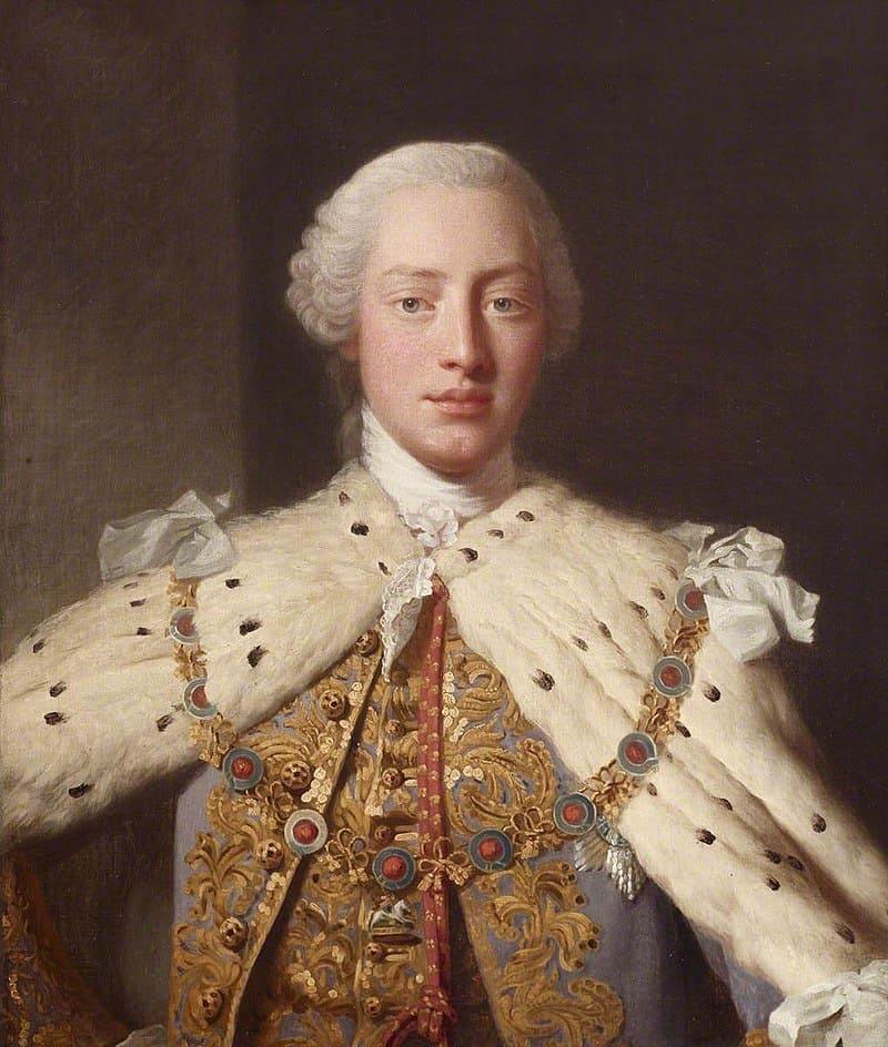 Аллан Рэмзи, фрагмент картины «Георг III в коронационных одеяниях»