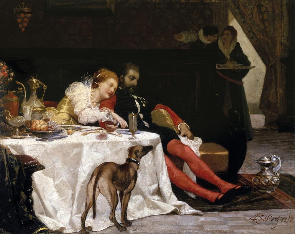 Амос Кассиоли «Смерть Бьянки и Франческо»