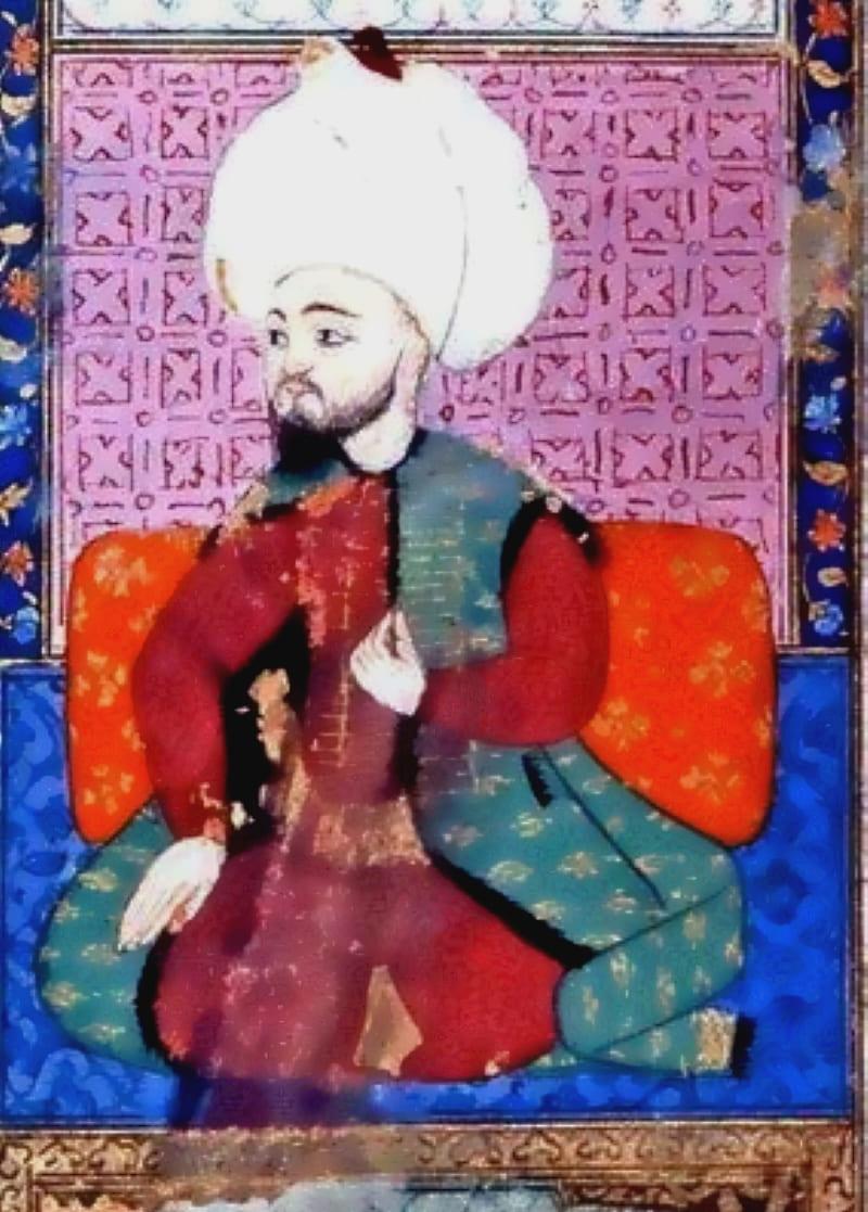 Джем на миниатюре из сборника жизнеописаний поэтов Ашика-челеби
