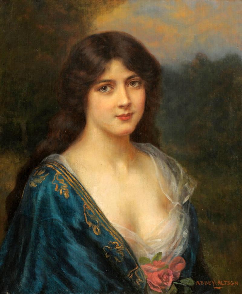 Эбби Алстон «Портрет неизвестной», не является портретом Анны Монс (её портретов история не сохранила)