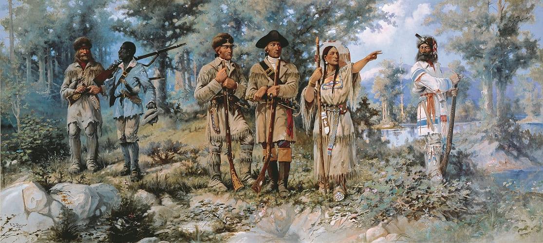 Едгар Самуэль Пакссон «Экспедиция Льюиса и Кларка (по середине)
