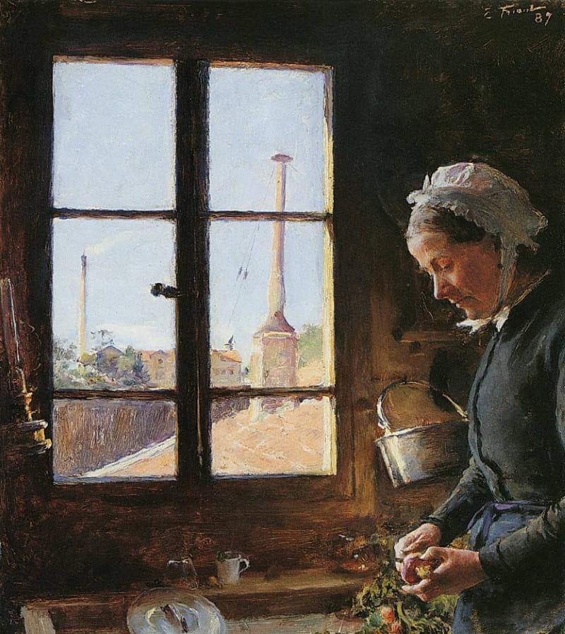 Эмиль Фриан «Портрет женщины перед окном»