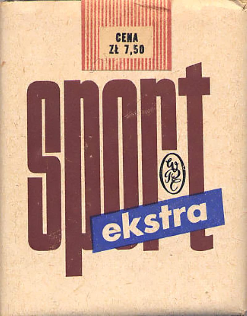 Этикетка от сигарет «Спорт»