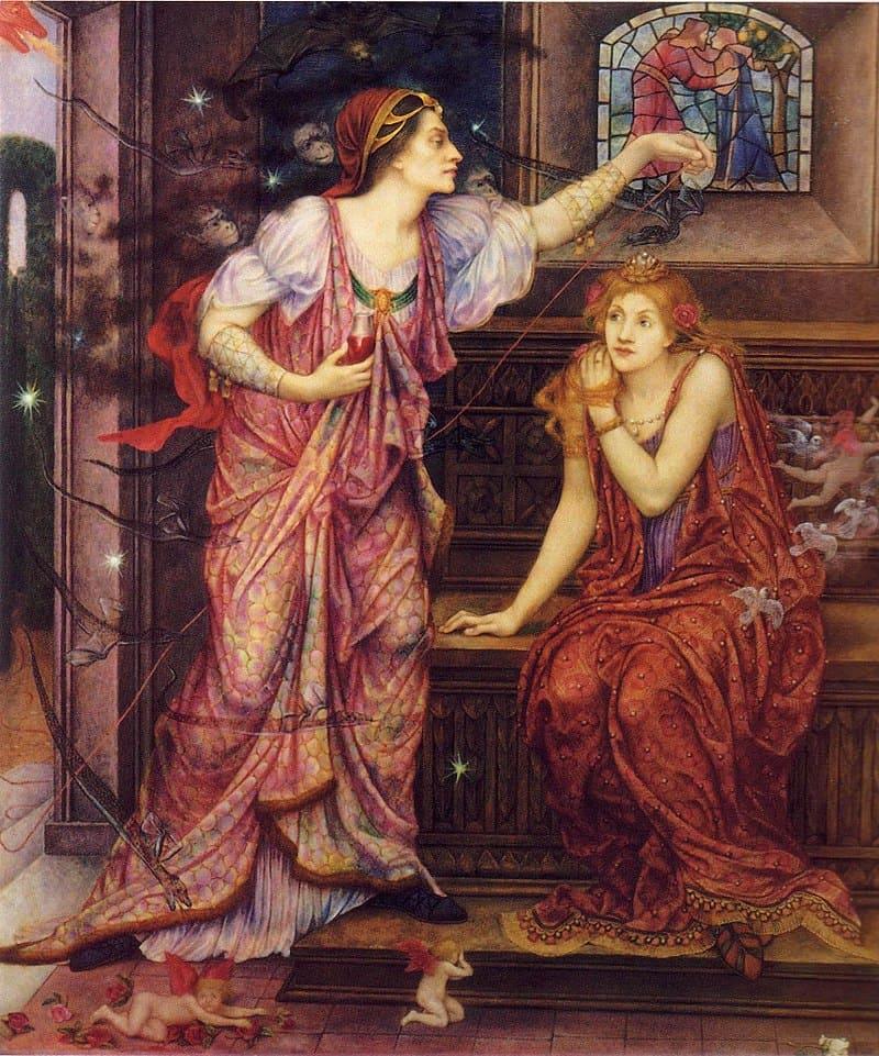 Эвелин де Морган «Королева Алиенора и Прекрасная Розамунда»