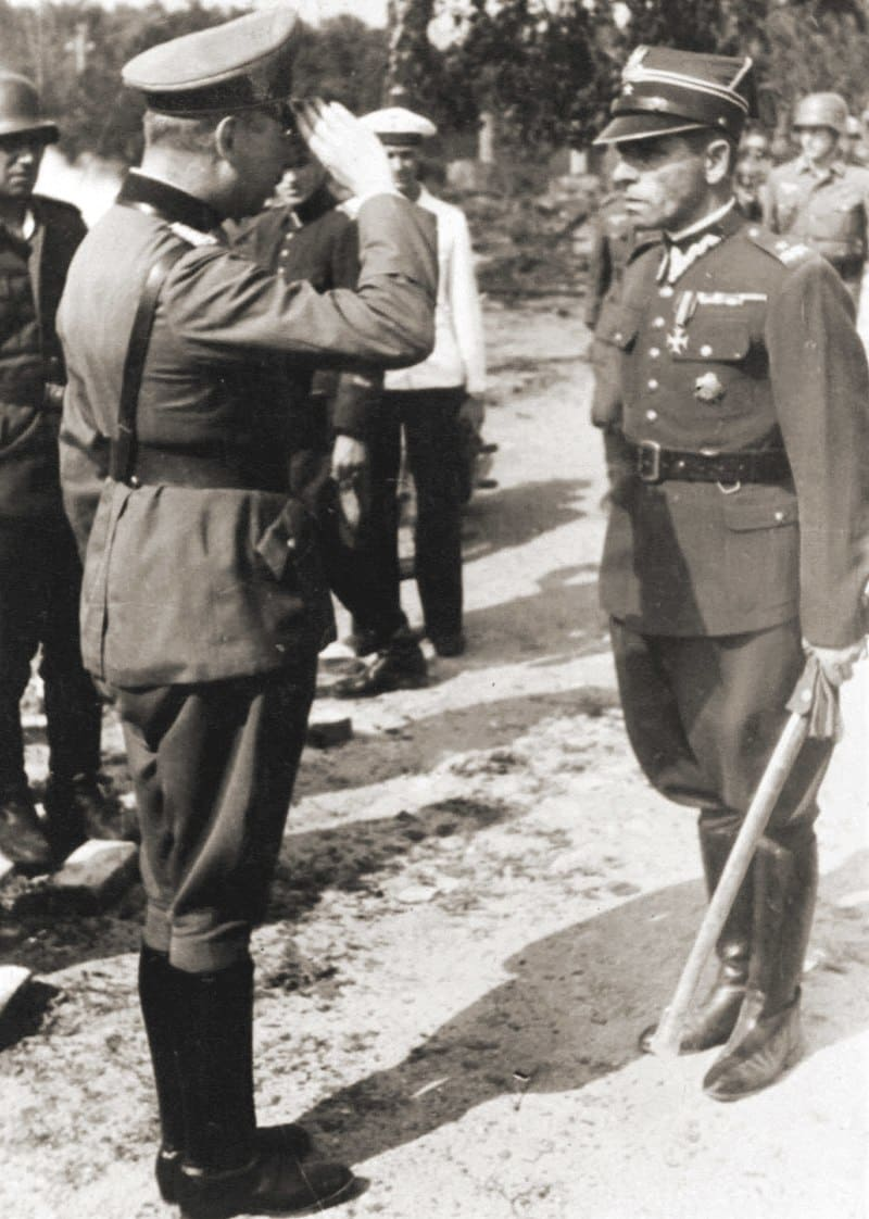 Генерал Фридрих Эберхардт принимает капитуляцию у майора Генрика Сухарского