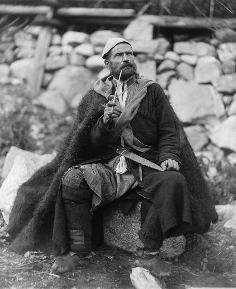 Грузинский крестьянин в селе Местиа. 1888 г.