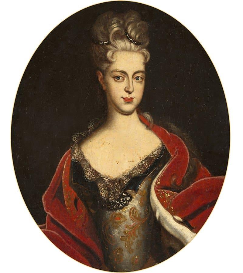 Иоганн Готфрид Таннауэр «Портрет Шарлотты Кристины Софии», 1710-е годы