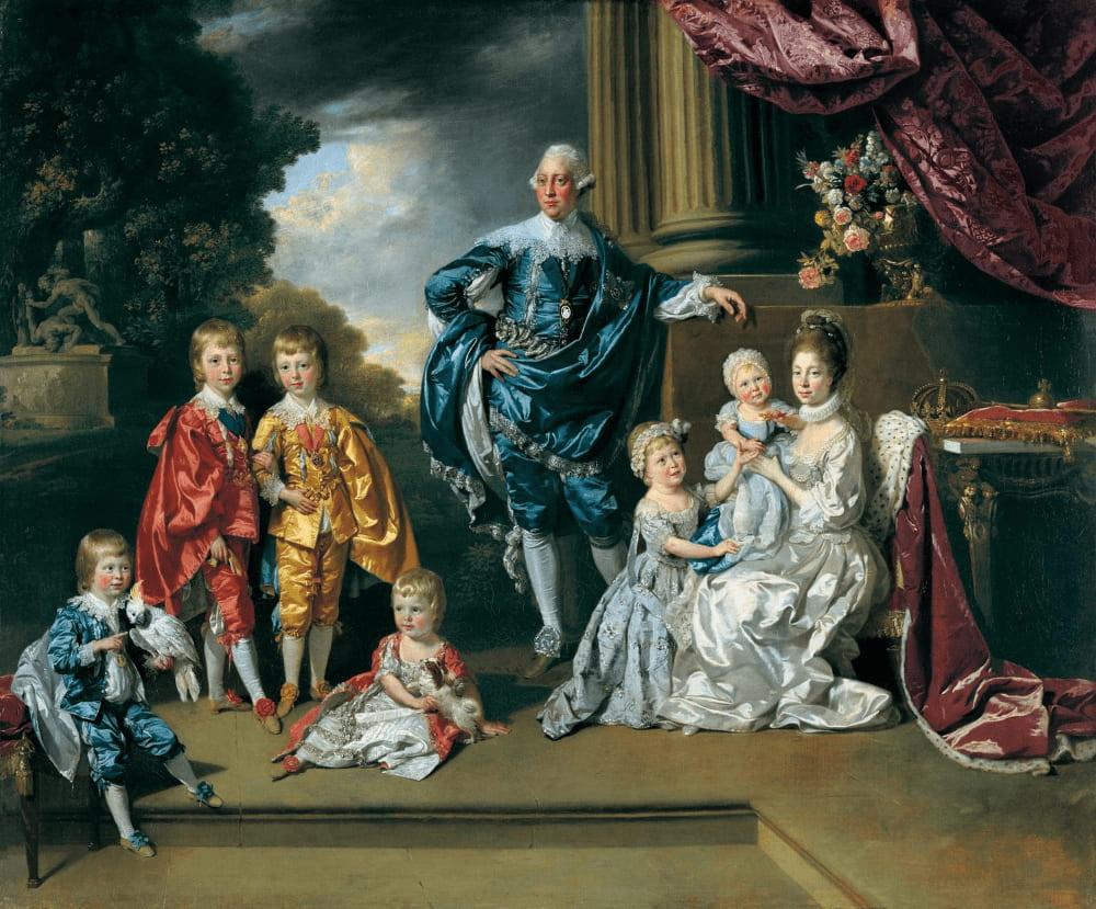 Иоганн Цоффани «Король Георг III с женой Шарлоттой и их шестью старшими детьми»