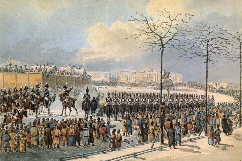 Карл Кольман «Сенатская площадь 14 декабря 1825 года»