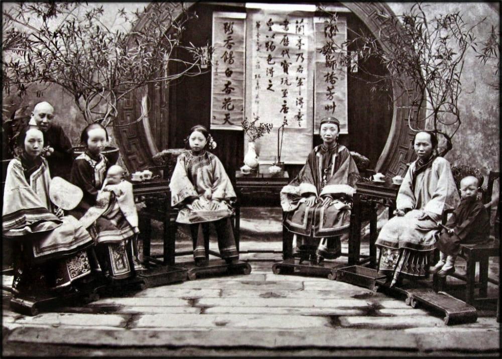 Китайская семья, 1875 год