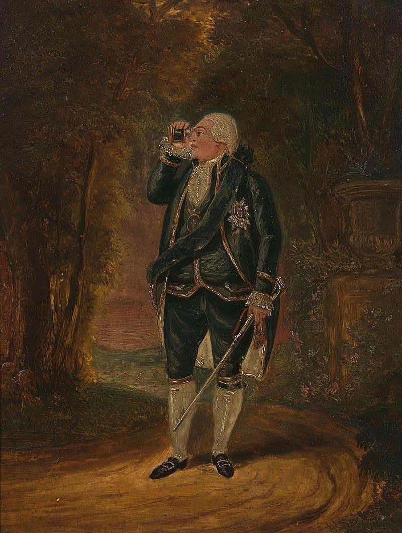 Король Георг III на прогулке