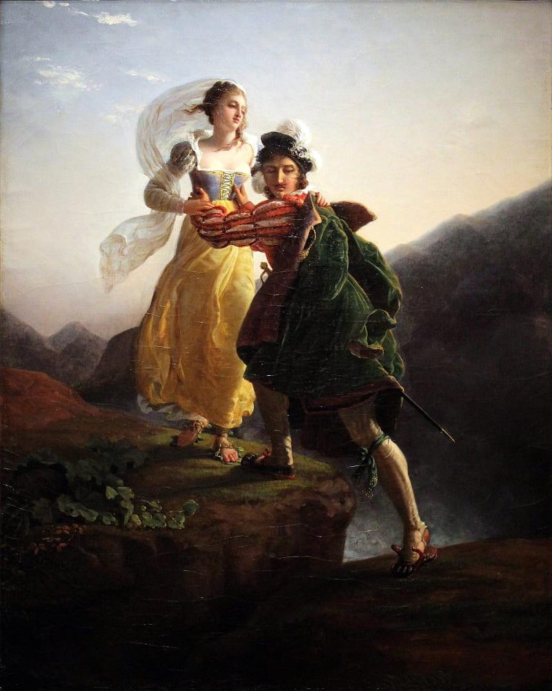 Луи Дучич «Бьянка Капелло бежит вместе со своим возлюбленным»