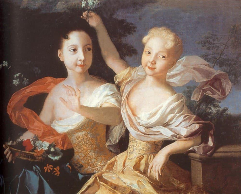 Луи Каравак «Портрет царевен Анны Петровны и Елизаветы Петровны», 1717 год