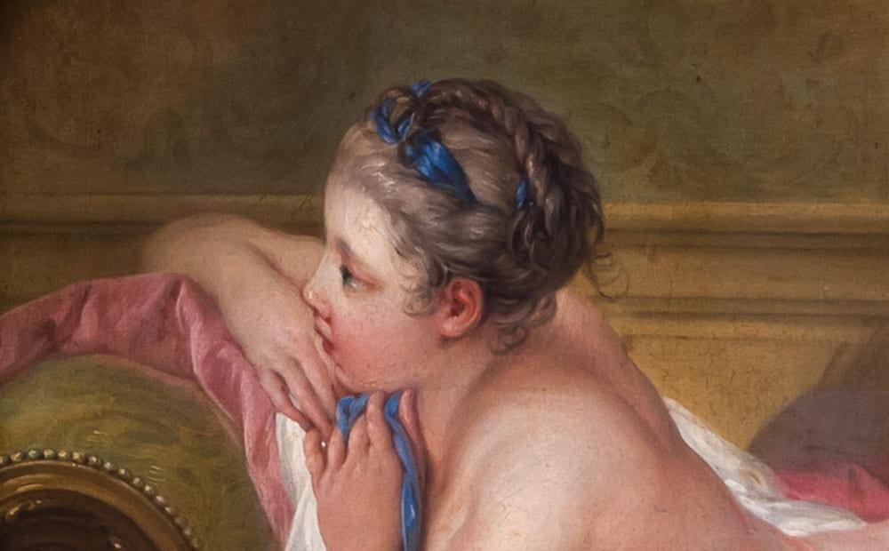 Луиза О'Мёрфи (фрагмент картины Франсуа Буше)