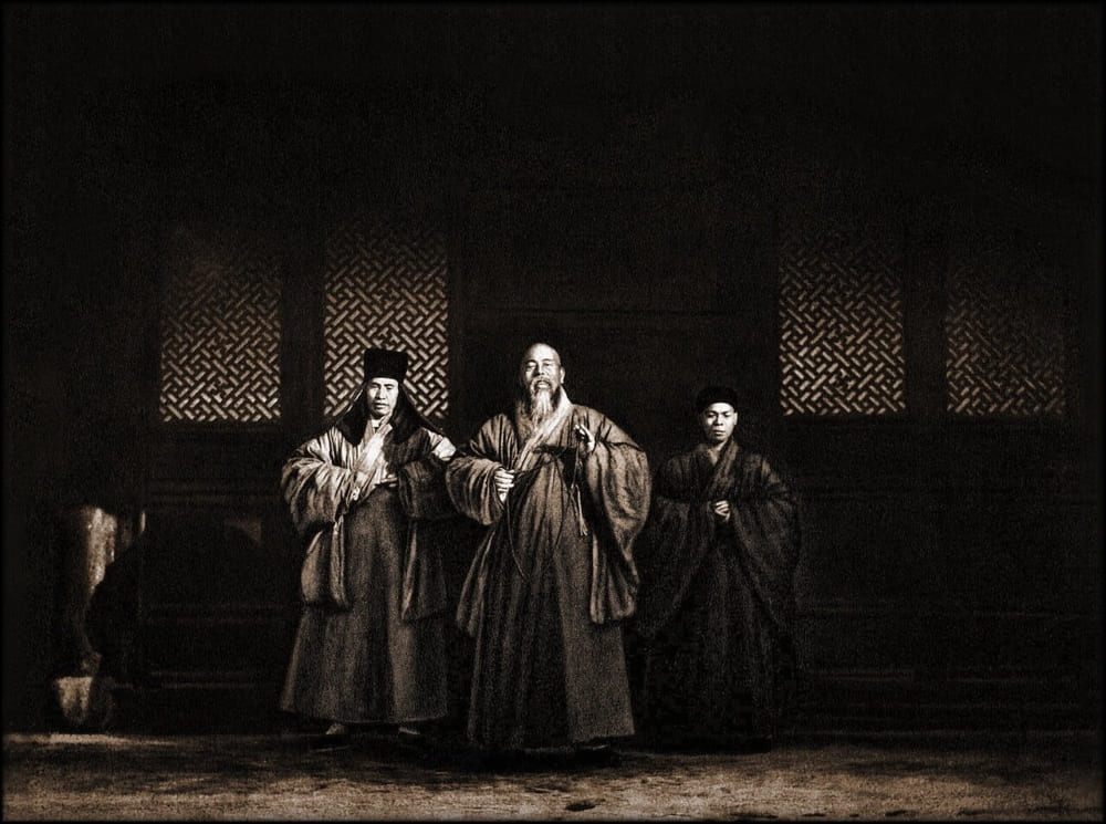 Монахи монастыря Тянь-Ту, Нинбо, провинция Чжэцзян, 1906 год