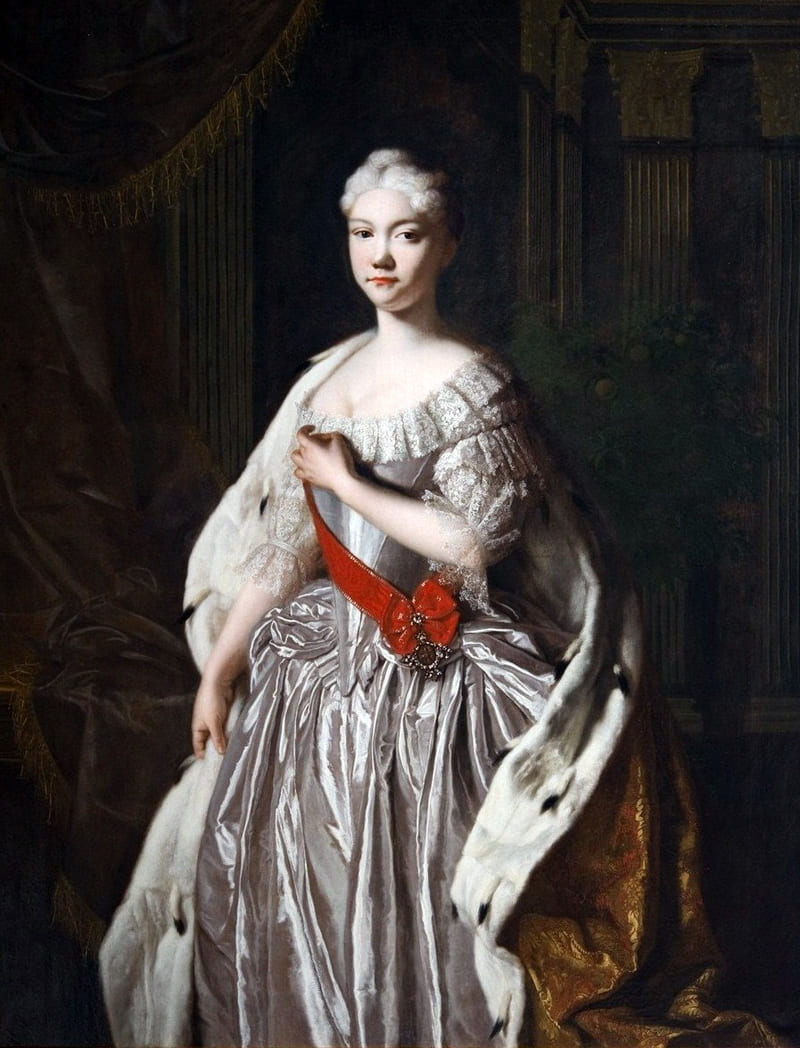 Неизвестный художник «Парадный портрет принцессы Натальи Алексеевны в королевской мантии».