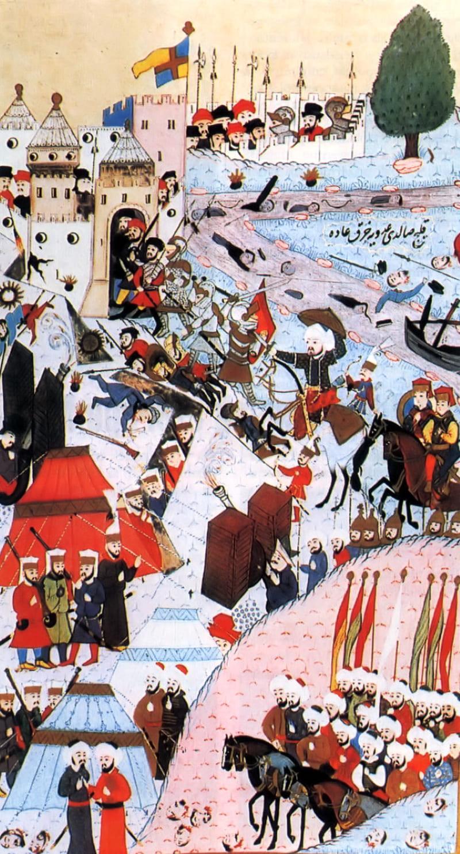 Осада Белграда. Турецкая миниатюра 1584 года