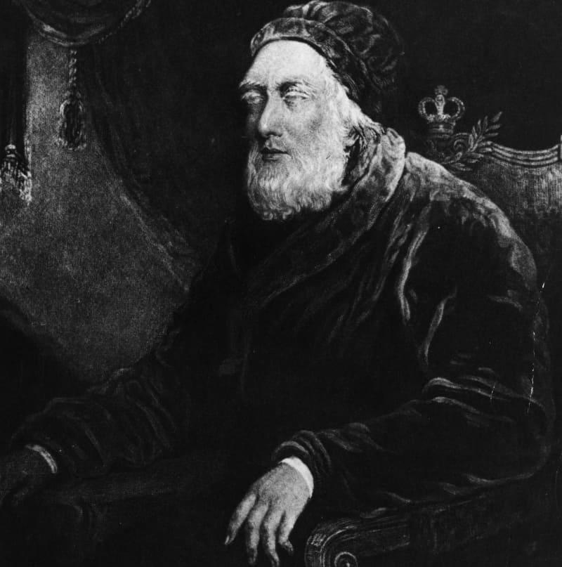 Ослепший Георг III в последние годы жизни