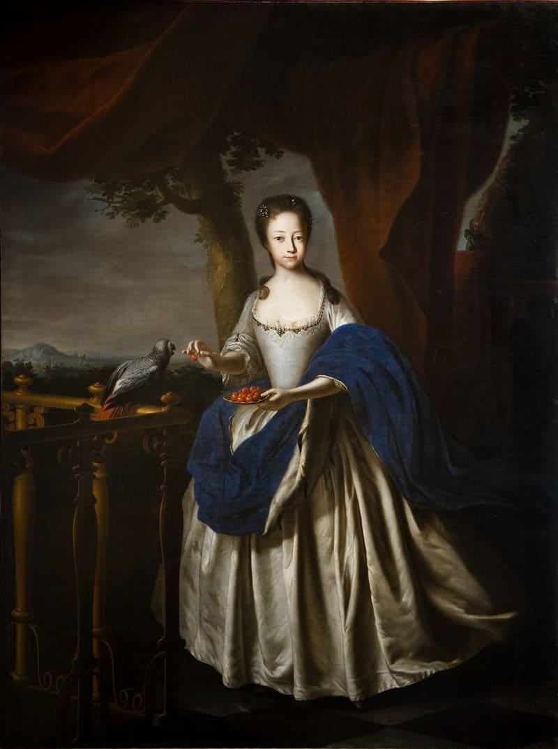 Парадный портрет принцессы Софии-Шарлотты Брауншвейг-Вольфенбюттельской