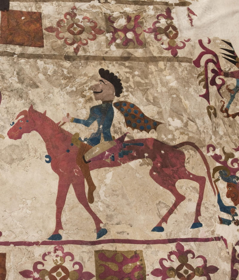 Сакский (скифский) всадник из Пазырыка в Центральной Азии, V-IV вв. до н.э.