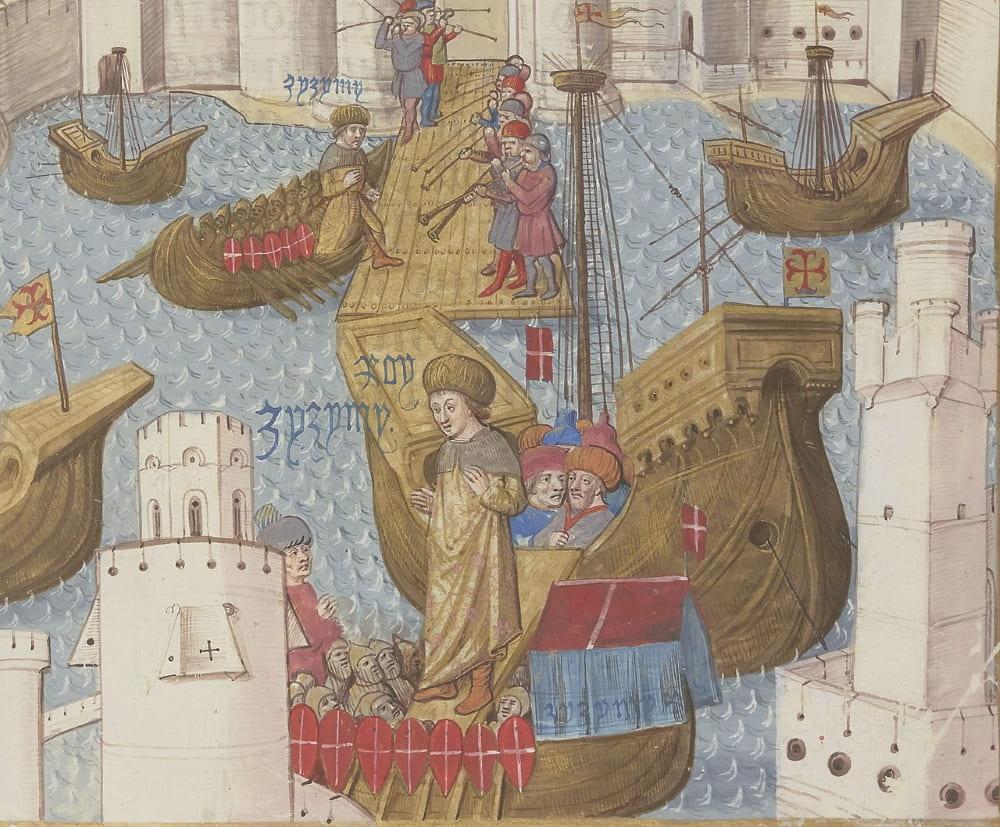Пьер д'Обюиссон встречает Джема на Родосе в 1482 году