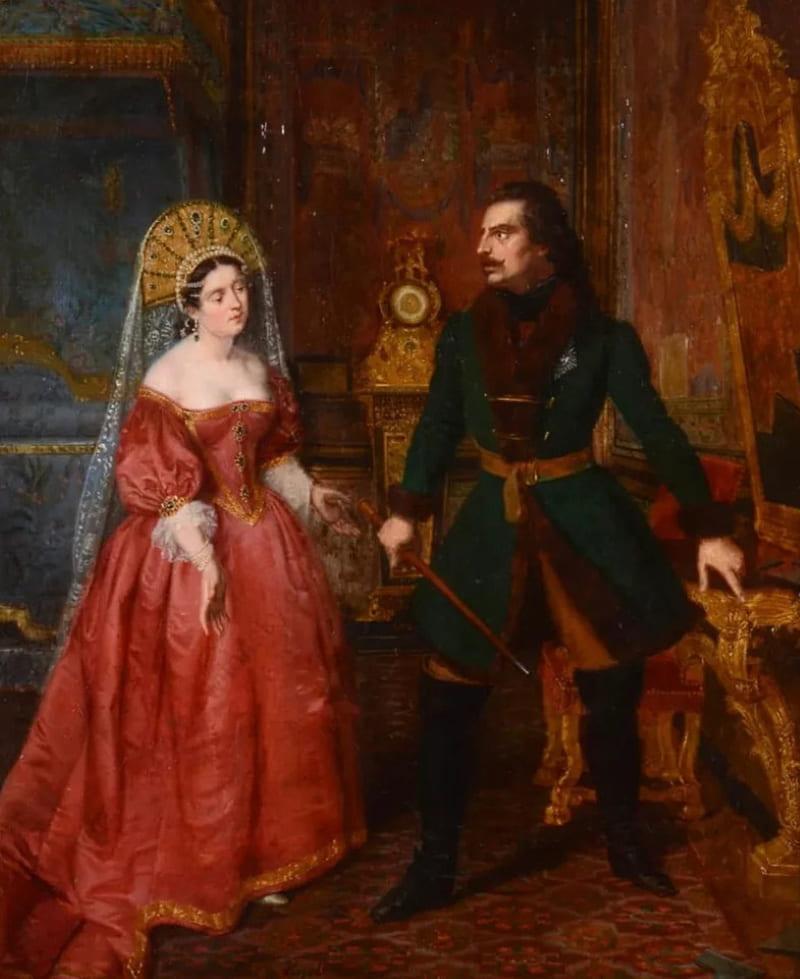 Петр I и Екатерина