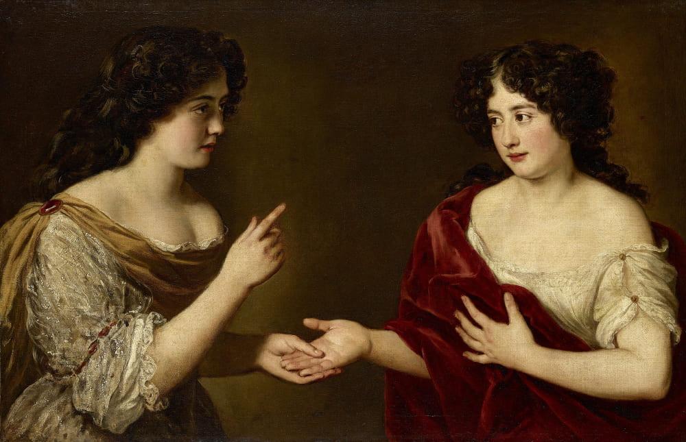 Якоб Фердинанд Вут «Портрет Гортензии Манчини и ее сестры Марии», между 1670 и 1700 годами