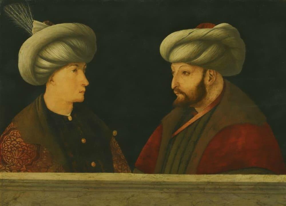 Портрет султана Мехмеда II с молодым сановником