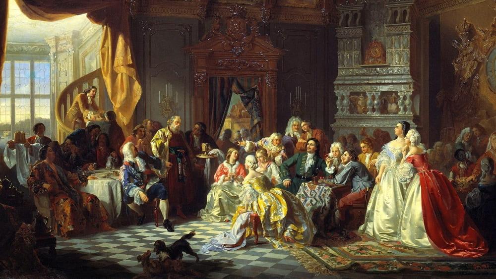 С. Хлебовский «Ассамблея при дворе Петра I»