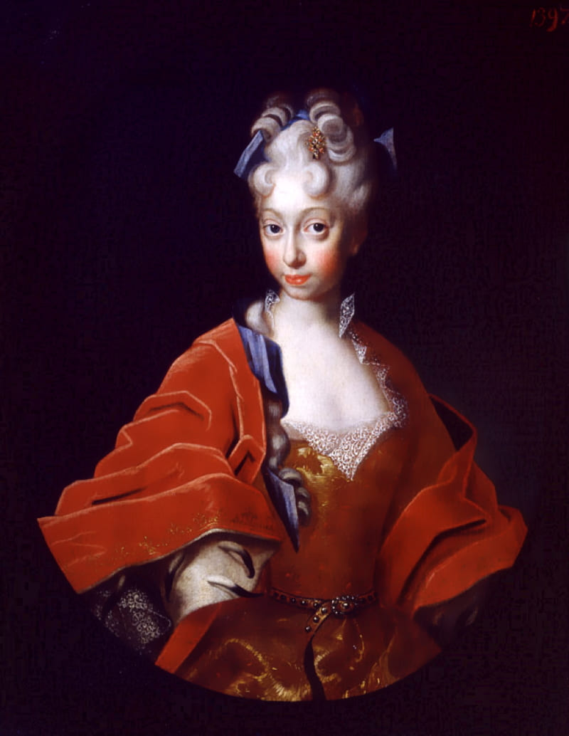 Самый ранний портрет Шарлотты Кристины Софии