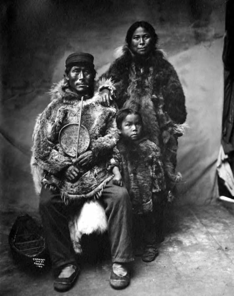 Семья эскимосов, 1907 год