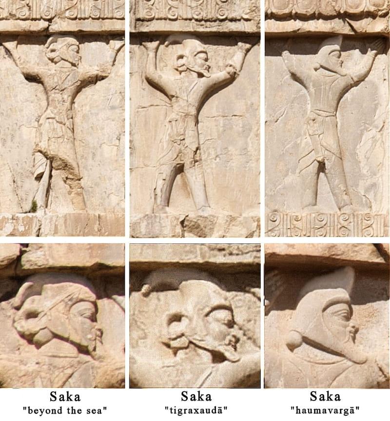 Солдаты Ахеменидской армии, деталь гробницы Ксеркс I, около 480 г. до н. э. / © A.Davey / ru.wikipedia.org